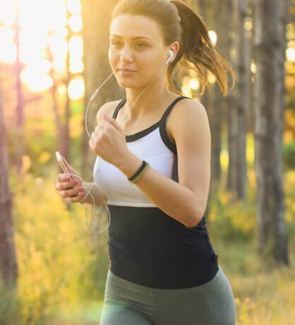 Woman running. Active people such as her willoften be in need of sports medicine supplies