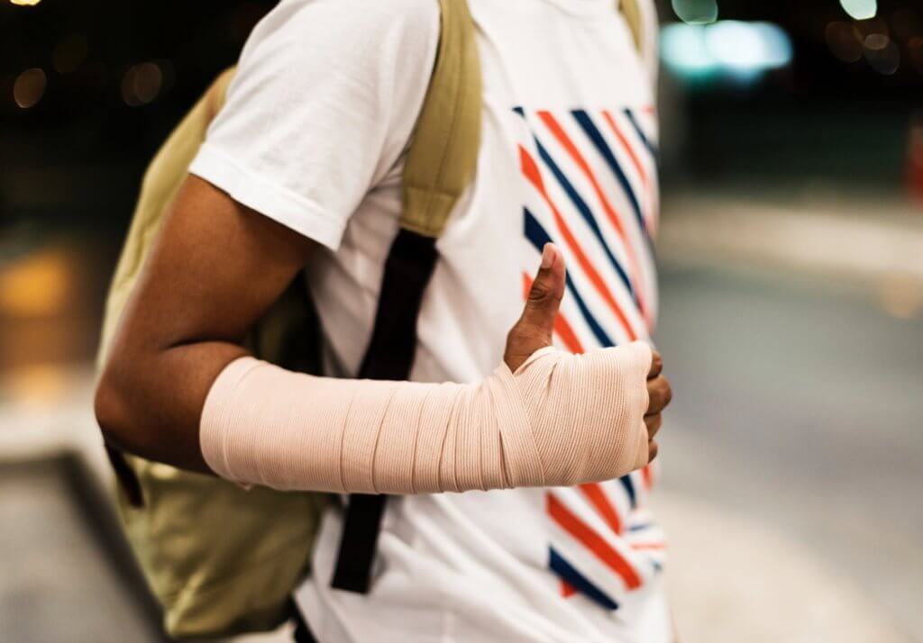 Man with Injured Wrist