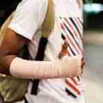 Man with Injured Wrist
