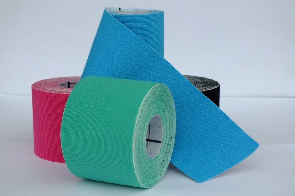 Kinesiology Tape is commonly used for treating & managing sports injuries
